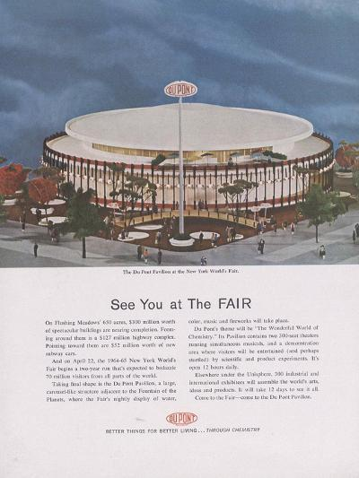Dupont Pavilion at the New York World's Fair, Page from 'The Du Pont Magazine', 1964--Giclee Print