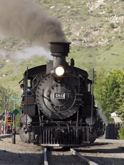 Durango and Silverton Railroad Narrow Gauge Trains Leave the Station  Photographic Print by Rich Reid | Art com