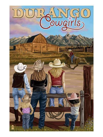 Durango, Colorado - Cowgirls-Lantern Press-Art Print