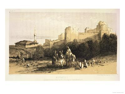"Durazzo, from ""Journals of a Landscape Painter in Albania and Greece,"" Published 1851-Edward Lear-Giclee Print"