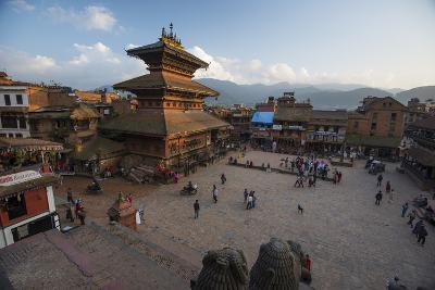 Durbar Square in the Medieval City of Bhaktapur-Michael Melford-Photographic Print