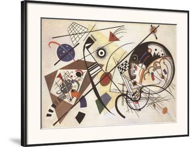 Durchgehender Strich-Wassily Kandinsky-Framed Art Print