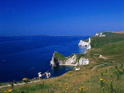 Durdle Door Coastline, Weymouth Bay, Dorset, UK-David Ball-Photographic Print