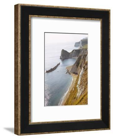 Durdle Door from East, Dorset Coast, 20th century-CM Dixon-Framed Photographic Print