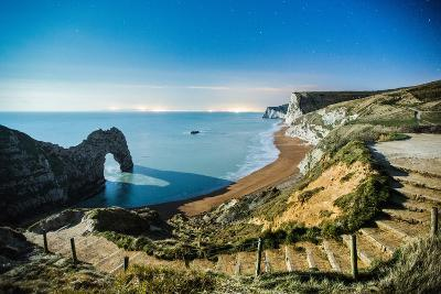 Durdle Door under the Stars, Jurassic Coast, Dorset, England, United Kingdom-John Alexander-Photographic Print