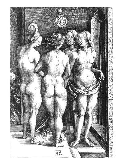 Durer: Four Witches, 1497-Albrecht D?rer-Giclee Print