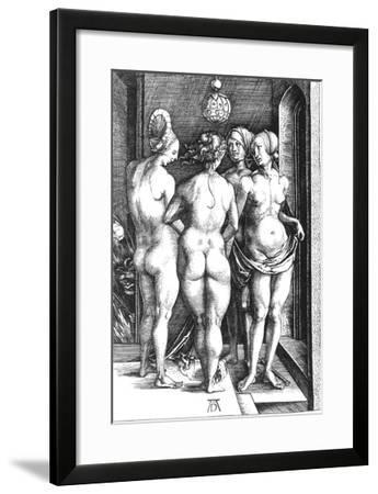Durer: Four Witches, 1497-Albrecht Dürer-Framed Giclee Print