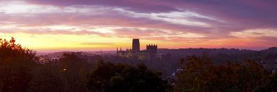 Durham Cathedral View from Wharton Park at Sunrise, Durham, County Durham, England--Photographic Print