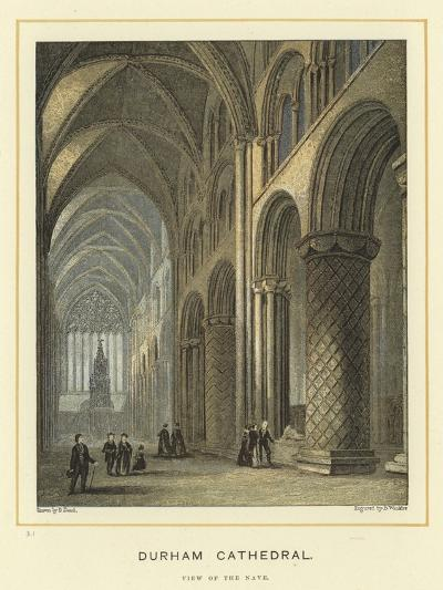 Durham Cathedral, View of the Nave--Giclee Print