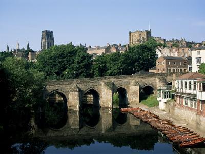 Durham Centre and Elvet Bridge, Durham, County Durham, England, United Kingdom-Neale Clarke-Photographic Print