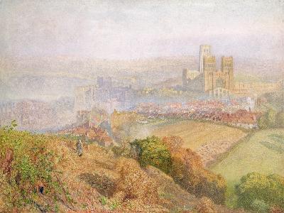 Durham, Misty with Colliery Smoke-Alfred William Hunt-Giclee Print