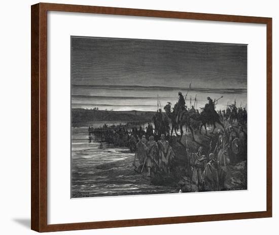 During the Exodus Moses Parts the Sea and Leads the Israelites Across- Greatbach-Framed Giclee Print
