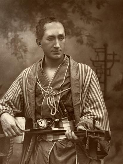 Durward Lely, Scottish Opera Singer, in Gilbert and Sullivan's the Mikado, 1887-Ernest Barraud-Photographic Print