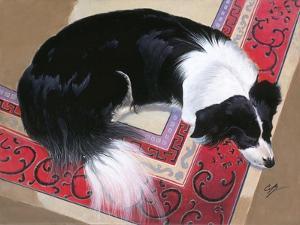 Dog on a Rug by Durwood Coffey