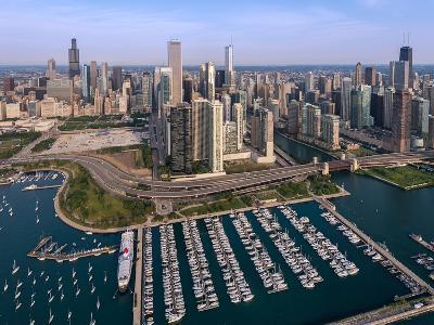 DuSable Harbor Chicago-Steve Gadomski-Photographic Print