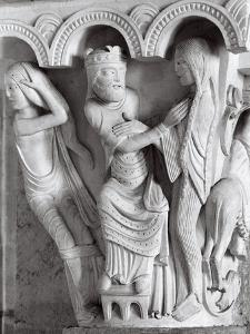 Column of the Church of Saint-Madeleine in Vezelay by Dusan Stanimirovitch