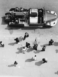 Firemen in Paris by Dusan Stanimirovitch