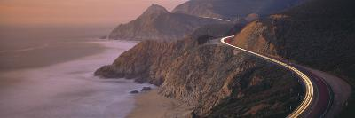 Dusk Highway 1 Pacific Coast CA USA--Photographic Print