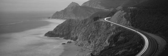 Dusk Highway 1 Pacific Coast Ca USA--Photographic Print