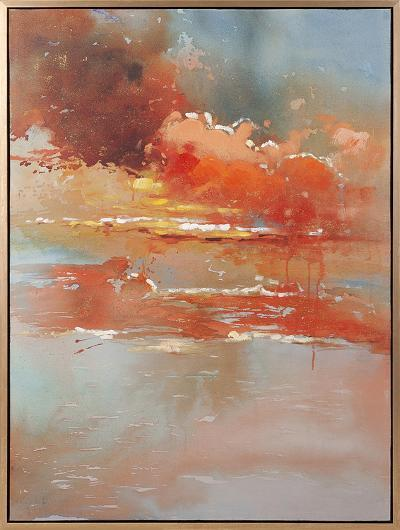 Dusk Horizon--Framed Hand Painted Art