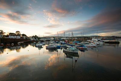 Dusk in the Harbour at Paignton, Devon England UK-Tracey Whitefoot-Photographic Print