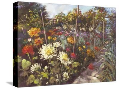Dusk in the Walled Garden-Nel Whatmore-Stretched Canvas Print