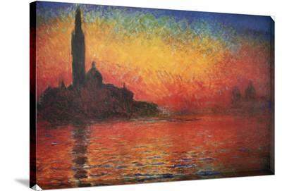 Dusk in Venice-Claude Monet-Stretched Canvas Print