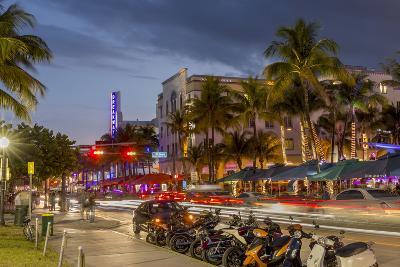 Dusk Light on Ocean Drive in South Beach in Miami Beach, Florida, USA-Chuck Haney-Photographic Print