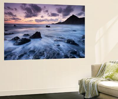 Dusk on the Rocky Shores of Speke's Mill Mouth in North Devon, England. Summer-Adam Burton-Wall Mural