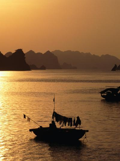 Dusk Over Halong Bay, Halong City, Vietnam-Oliver Strewe-Photographic Print