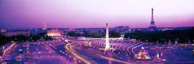 Dusk Place De La Concorde Paris France--Photographic Print