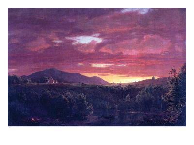 Dusk (Sunset)-Frederic Edwin Church-Art Print