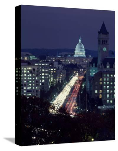 Dusk view of Pennsylvania Avenue, America's Main Street in Washington, D.C.-Carol Highsmith-Stretched Canvas Print
