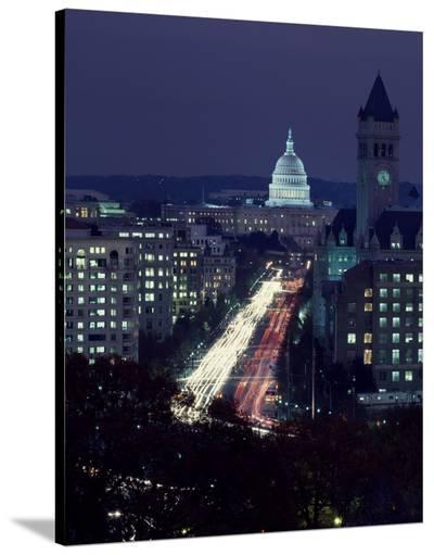 Dusk view of Pennsylvania Avenue, America's Main Street in Washington, D.C.-Carol Highsmith-Stretched Canvas Print