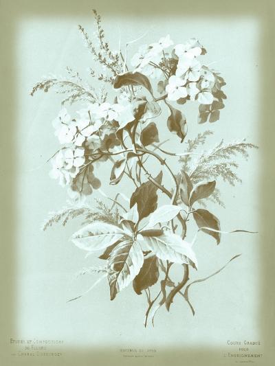 Dussurgey Hydrangea on Blue-Dussurgey-Art Print