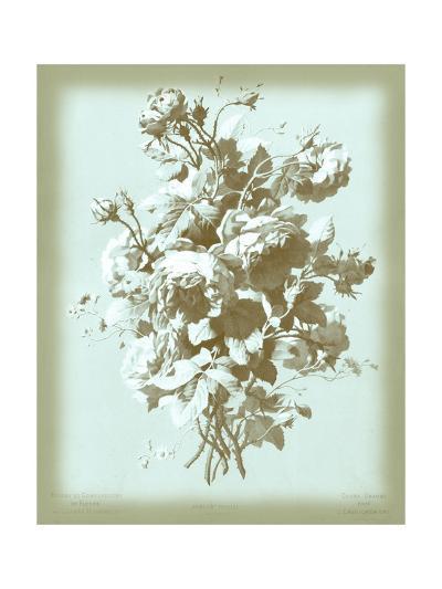 Dussurgey Roses on Blue-Dussurgey-Art Print