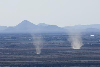 Dust Devils Twirl in the Desert Along the Mexico Border, Southern New Mexico--Photographic Print