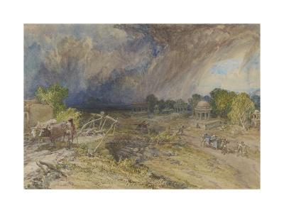 Dust Storm Coming On, Near Jaipur Rajputana, 1863-William 'Crimea' Simpson-Giclee Print