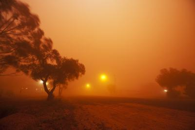 Dust Storm in the Australian Outback-Paul Souders-Photographic Print