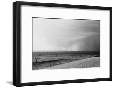 Dust Storm near Mills, New Mexico-Dorothea Lange-Framed Photo