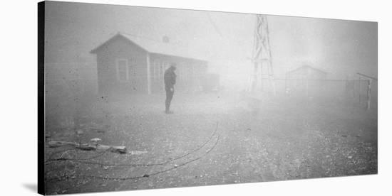 Dust storm New Mexico, 1935-Dorothea Lange-Stretched Canvas Print