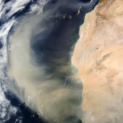 Dust Storm Over the Cape Verde Islands-PLANETOBSERVER-Photographic Print