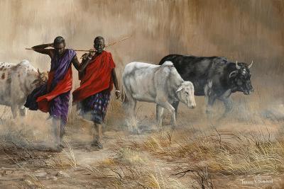Dusty Cattle Drive-Trevor V. Swanson-Giclee Print