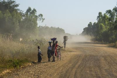 Dusty Road, Mount Mulanje, Malawi, Africa-Michael Runkel-Photographic Print