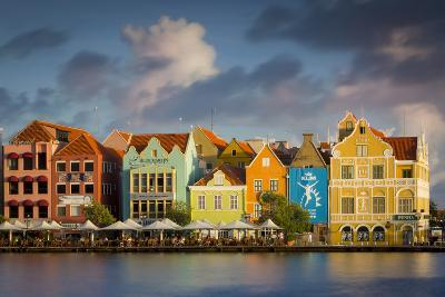 Dutch Architecture Lines the Wharf at Willemstad, Curacao, West Indies-Brian Jannsen-Photographic Print