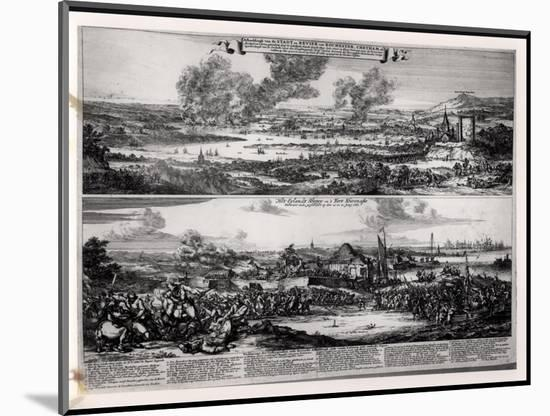 Dutch Attack on the River Medway 20th and 21st June 1667-Romeyn De Hooghe-Mounted Premium Giclee Print