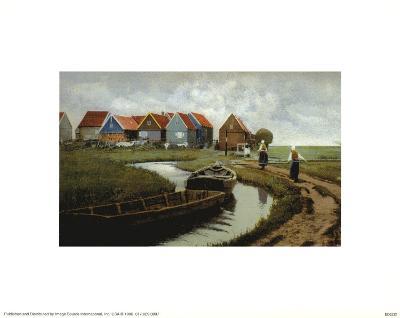 Dutch Canal--Art Print