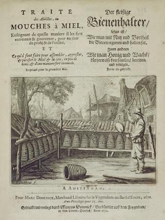Cover of 'Traite Des Abeilles, Ou Mouches a Miel...' Printed in French and German