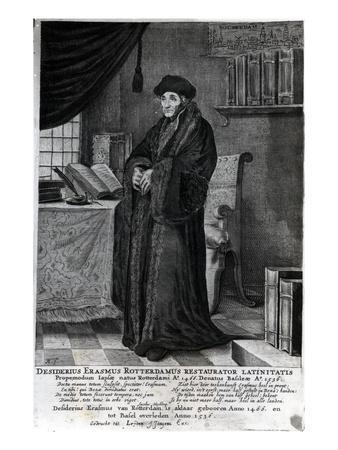 Desiderius Erasmus, 'Restorer of the Latin Language' (Engraving)