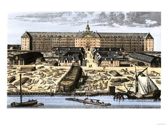 Dutch East India House in Amsterdam, Showing Warehouses and Shipyard Giclee  Print by | Art com